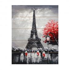 Картины по номерам на дереве Molly KD0688 Вечер в Париже (21 Цвет) 40х50 см