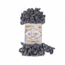 Пряжа для вязания Ализе Puffy (100% микрополиэстер) 5х100г/9.5м цв.087 угольно-серый