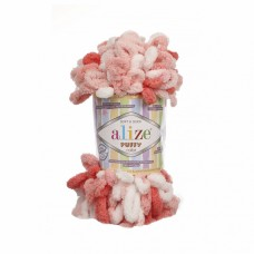 Пряжа для вязания Ализе Puffy color (100% микрополиэстер) 5х100г/9м цв.5922
