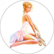 Вышивка крестиком ЦВЕТНОЙ VC04 Сидящая балерина 21х21 см