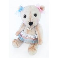 Набор для изготовления игрушек из меха MMВ-002 Мишка Лилу 19 см