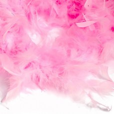 Боа - перо FBY-50-13 уп.50±3г цв.розовый уп.2м