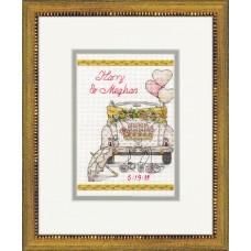 Набор для вышивания DIMENSIONS DMS-70-65185 Wedding Day 12,7х17,8 см