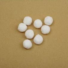 Помпоны TBY из пряжи 0,7г/шт BYG20 20мм цв.белый уп. 200шт