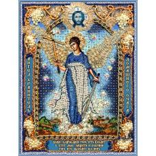 Набор для вышивания хрустальными бусинами ОБРАЗА В КАМЕНЬЯХ  7731 Ангел Хранитель домашнего очага-1