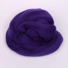 Шерсть для валяния ПЕХОРКА полутонкая шерсть (100%шерсть) 50г цв.698 т.фиолетовый