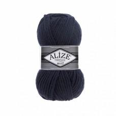 Пряжа для вязания Ализе Superlana maxi (25% шерсть, 75% акрил) 5х100г/100м цв.058 т.синий