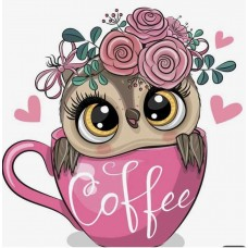 Картины по номерам Molly KH1030 Хочу кофе!! 20х20 см