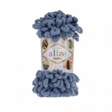 Пряжа для вязания Ализе Puffy (100% микрополиэстер) 5х100г/9.5м цв.374 голубой