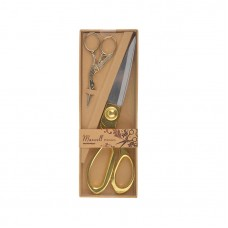 Набор подарочный Ножницы портновские 200мм. + Цапельки 90мм. золото 111565 Maxwell premium
