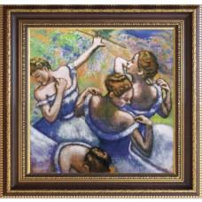 Набор для вышивания мулине НОВА СЛОБОДА СД2251 Голубые танцовщицы 33х33 см