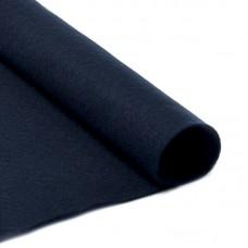 Фетр в рулоне мягкий IDEAL 1мм 100см FLT-S2 уп.10м цв.655 иссиня черный