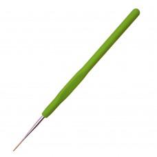 Крючки для вязания Maxwell односторонние с золотой головкой MAXW.8202, 1,2 мм, никель/зеленый