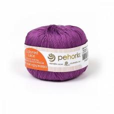 Пряжа для вязания ПЕХ Цветное кружево (100% мерсеризованный хлопок) 4х50г/475м цв.179 фиалка