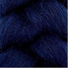 Шерсть для валяния КАМТ Лента для валяния (шерсть п/т 100%) 1х50г/2,1м цв.173 синий