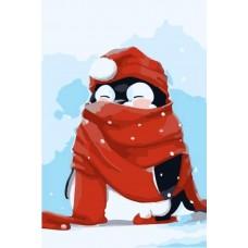 Живопись по номерам Пингвин в снегу MC1054 20х30 тм Цветной