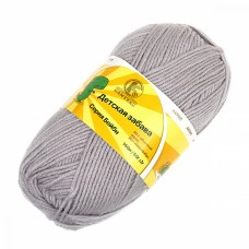 Пряжа для вязания КАМТ Детская забава (20% микрофибра, 80% объемный акрил) 10х50г/140м цв.008 серебристый