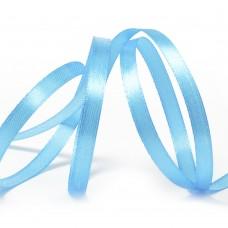 Лента атласная 1/4 (6мм) цв.3157 ярк.голубой IDEAL уп.27,4 м