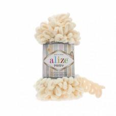 Пряжа для вязания Ализе Puffy (100% микрополиэстер) 5х100г/9.5м цв.742 медовый