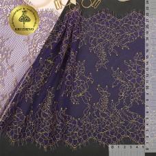 Кружево реснички KRUZHEVO TBY 75224 шир.230мм цв.темно-синий уп.3м