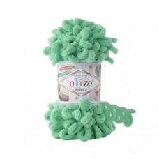 Пряжа для вязания Ализе Puffy (100% микрополиэстер) 5х100г/9.5м цв.741 мята