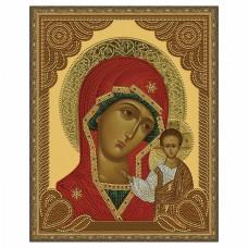 Картина 5D мозаика с нанесенной рамкой Molly KM0789 Казанская Божия Матерь (14 цветов) 40х50 см