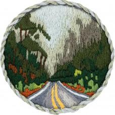 Набор для вышивания PANNA Живая картина  ЖК-2186 Брошь. Дорога в лесу 5,5х5,5 см