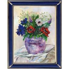 Набор для вышивания Вышивальная мозаика  139ЦВ.Акварельные цветы. Анемоны 19х25,5см