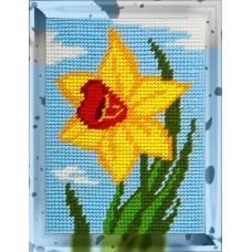 Набор для вышивания с пряжей BAMBINI X2248 Нарцисс 15х20 см