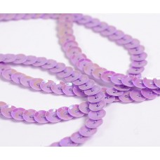 Пайетки на нитях 6мм Cream Colour TBY-FLKU06-CC цв.0024 фиолетовый уп.73.12м