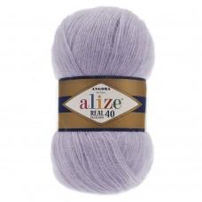 Пряжа для вязания Ализе Angora Real 40 (40% шерсть, 60% акрил) 5х100г/480м цв.257 лаванда