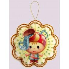 Наборы для вышивания декоративных игрушек BUTTERFLY  F131 Водолей
