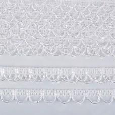 Тесьма отделочная UU цв.белый шир.18-19мм уп.16,45м
