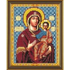 Рисунок на ткани бисер НОВА СЛОБОДА МАХ.БИС-А4-9035  Богородица Смоленская 19x24 см