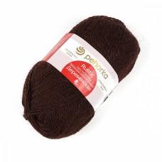 Пряжа для вязания ПЕХ Деревенская (100% полугрубая шерсть) 10х100г/250м цв.017 шоколад