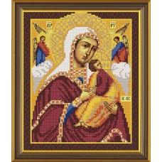Наборы для вышивания бисером НОВА СЛОБОДА С 9057 Пр. Богородица Богородица Страстная 18x22 см