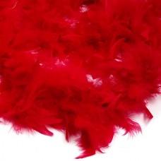 Боа - перо FBY-50-32 уп.50±3г цв.красный дл.2м