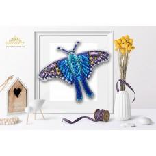 Пластиковая перфорированная основа БЛАГОВЕСТ БС-047 3-D Бабочка. Terinos Terpander 10х12 см