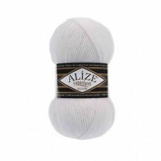 Пряжа для вязания Ализе Superlana klasik (25% шерсть, 75% акрил) 5х100г/280м цв.055 белый