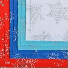 Набор декоративного фетра с глиттером Снежинки IDEAL 1,4мм 20х30см FLT-GLP1 уп.8 листов цв.ассорти