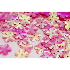 Пайетки россыпью Ideal TBY-FLK465 14мм цв.028 ярк.розовый уп.50г