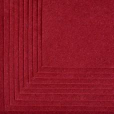 Фетр листовой мягкий IDEAL 1мм 20х30см FLT-S1 уп.10 листов цв.617 бордовый