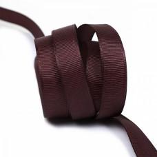 Лента Ideal репсовая в рубчик шир.12мм цв. S864 бордовый уп.27,42м