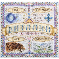 Набор для вышивания PANNA  СО-1676 Именной оберег. Виталий 18,5х18,5 см