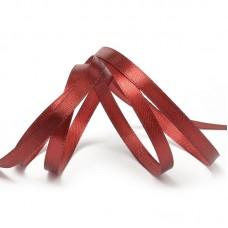 Лента атласная 1/4 (6мм) цв.3091 т.красный IDEAL уп.27,4 м