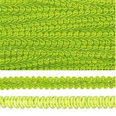 Тесьма TBY Шанель плетеная шир.8мм 0384-0016 цв.52 салатовый уп.18,28м