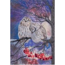 Набор для вышивания PANNA Живая картина ЖК-2111 Совы-сплетницы 25,5х18 см