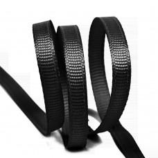 Лента Ideal репсовая в рубчик шир.6мм цв. 030 черный уп.27,42м