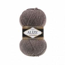 Пряжа для вязания Ализе LanaGold (49% шерсть, 51% акрил) 5х100г/240м цв.240 коричневый меланж
