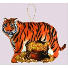 Набор для вышивания декоративных игрушек BUTTERFLY  F152 Тигр 8х11 см